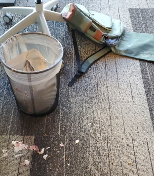 Spilled yogurt